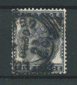 Englanti 1880 - AFA 62 - Leimattu