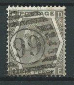 Englanti 1872 - AFA 39 - Leimattu