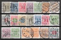 Danimarca 1907 - Av. 1-20 - timbrato