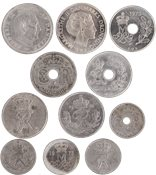 Denmark - 11 different copper coins