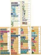 Holland - Dublet samling i 2 indstiksbøger - Stemplet
