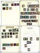 Italie env. 1862-1947 - Belle collection ancienne dans un album préimprimé