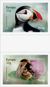 Norway - EUROPA 2021 Endangered National Wildlife - Mint gutterpair set