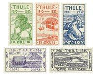 Greenland Thule 1935-1936 - AFA 1-5 - Mint