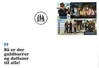 Danmark - Olsen-Banden i Jylland - FDC med frimærker