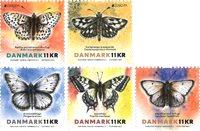 Denmark - EUROPA 2021 Endangered National Wildlife - Mint set 5v