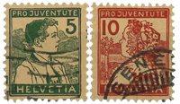 Schweiz 1915 - MICHEL 128-29 - Stemplet