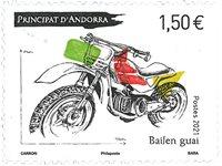 Fransk Andorra - Motorcykel - Postfrisk frimærke