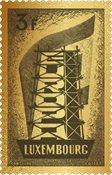 Luxembourg - 65-året for EUROPA-frimærker ægte guld - Postfrisk frimærke ægte 24 karat guld 99,9%. Indkapslet frimærke i skrin