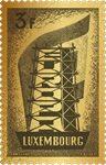 Lussemburgo - 65° Ann. EUROPA in oro 24 carati - francobollo nuovo in scatola
