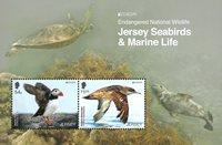 Jersey - EUROPA 2021 Endangered National Wildlife - Mint souvenir sheet