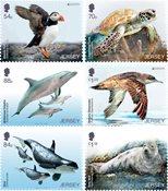Jersey - EUROPA 2021 Endangered National Wildlife - Mint set 6v