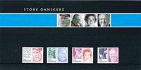 Danmark - Store danskere 2008 - Souvenirmappe med sæt