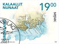 Sepac 2021: Historiske landkort - Dagstemplet - Frimærke