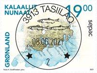 Sepac 2021: Historiske landkort - Centralt dagstemplet - Frimærke