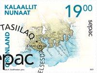 Sepac 2021: Historiske landkort - Førstedagsstemplet - Frimærke