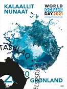 FN's verdens havdag - Førstedagsstemplet - Frimærke