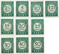Curacao - Port cijfer en waarde in donkergroen (nr. P34-P43, postfrisk)