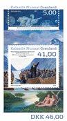 Grønland - Kristendom og Hans Egede - Postfrisk miniark