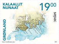 Greenland - SEPAC 2021 Historical Maps - Mint stamp