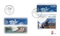 Greenland - Christianity & Hans Egede - First Day Cover with set