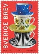 Sverige - Porcelænsmønstre - Postfrisk frimærke fra rulle