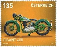 Austria - Gigant 600 motorbike - Mint stamp