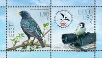 Estland - 100-året for ornitologisk forening - Postfrisk miniark