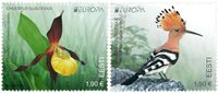 Estonia - EUROPA 2021 Endangered National Wildlife - Mint set 2v
