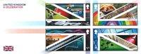England - A Celebration - Postfrisk miniark