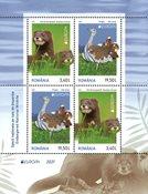 Romania - EUROPA 2021 Endangered National Wildlife - Mint souvenir sheet type I 3,40