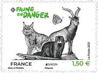 France - EUROPA 2021 Endangered National Wildlife - Mint stamp