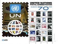 United Nations - 70 years of UN Postal service - Mint sheetlet