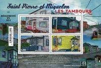 St. Pierre & Miquelon - Les Tambours - Postfrisk miniark