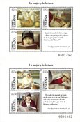 Spanien - Kvinder/bøger - Postfrisk sæt á 2 miniark