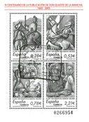 Spanien - Don Quijote - Stemplet miniark