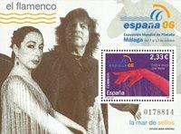 Spanien - Flamenco - Postfrisk miniark