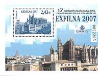 Spanien - Exfilna 2007 - Postfrisk miniark