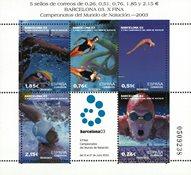 Spanien - Svømning - Postfrisk miniark