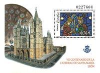 Spanien - Glasmaleri - Postfrisk miniark