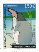 French Andorra - EUROPA 2021 Endangered National Wildlife - Mint stamp