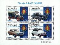Spanien - Biler - Stemplet miniark