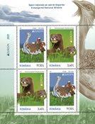 Romania - EUROPA 2021 Endangered National Wildlife - Mint souvenir sheet type II