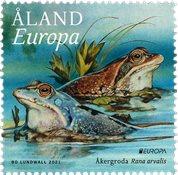 Åland - EUROPA 2021 Truet nationalt dyreliv - Postfrisk frimærke