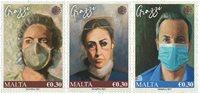 Malta - Covid-19 pandemiens helte - Postfrisk sæt 3v