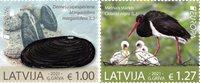 Letland - EUROPA 2021 Truet nationalt dyreliv - Postfrisk sæt 2v