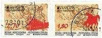 Serbisk Rep - EUROPA 2020 Gamle postruter - Stemplet sæt 2v