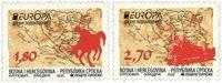 Serbisk Rep - EUROPA 2020 Gamle postruter - Postfrisk sæt 2v