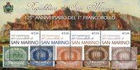 San Marino 2002 - Første frimærker 125 år - Postfrisk miniark