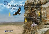 Kazakhstan - EUROPA 2019 Fugle - Postfrisk miniark